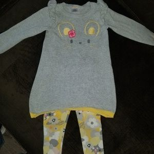 Adorable Gymboree sweater and leggings